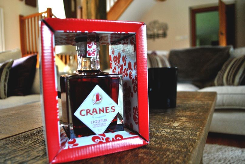 Cranes Cranberry and Blood Orange Liqueur Packaging
