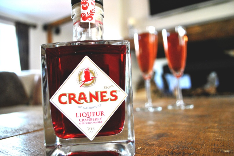 Cranes Cranberry and Blood Orange Liqueur bellinis