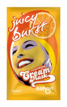 ooharr_cream_face_mask_sachet_juicy_burst_visual
