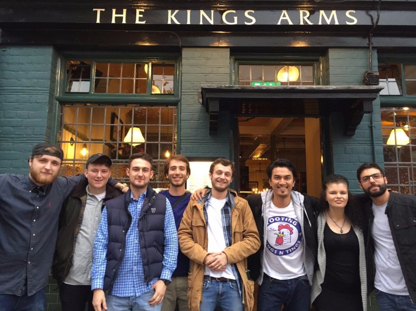 The Kings Arms Staff (taken from their instagram)